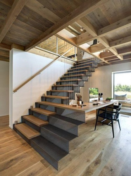 Escaleras que decoran la vivienda for Materiales para escaleras