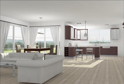 Las estancias con m s estilo - Cocina salon comedor ...
